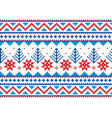 winter christmas fair isle pattern vector image vector image
