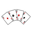 four aces isolated on white background vector image