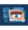 Technology in eye flat vector image