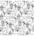black and white seamless pattern with vector image