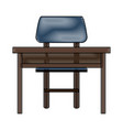 study desk with chair vector image