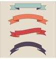 vintage ribbon banner set vector image