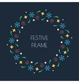 Christmas colorful round frame for Christmas cards vector image