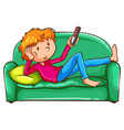 A coloured sketch of a lazy boy vector image vector image