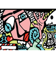 Abstract background in graffiti style vector image