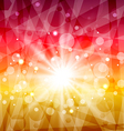 Abstract background with sun rays vector image vector image