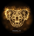 abstract polygonal tirangle animal koala neon vector image vector image
