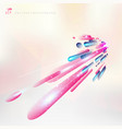 abstract technology pink and purple geometric vector image vector image