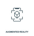augmented reality icon mobile app printing web vector image vector image