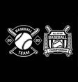 baseball team championship badge logo emblem vector image vector image