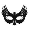 bird carnival mask icon simple style vector image vector image