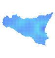 blue dot sicilia map vector image vector image