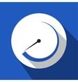 blue information icon - dial symbol vector image