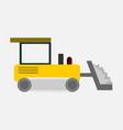 bulldozer heavy vehicle transport graphic vector image vector image