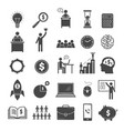 business icons marketing diagram office managers vector image