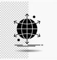 business international net network web glyph icon vector image vector image
