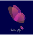 butterfly logo transparent elements beauty salon vector image