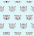 cat pattern with cute cartoon sleeping cat vector image vector image
