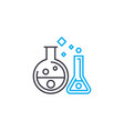 chemical experiments thin line stroke icon vector image vector image
