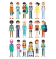 Children Figure Characters Set vector image vector image