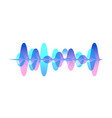 colorful gradient sound waveform graphic vector image