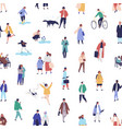 colorful seamless pattern with different people vector image vector image