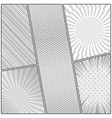 comic book page monochrome design template vector image
