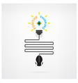 Creative light bulb idea and positive thinking vector image