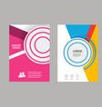 design cover design brochure in a4 size vector image