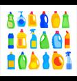 detergent bottles set vector image vector image