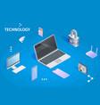 digital technology banner cloud computing storage vector image vector image