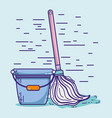 domestic hygiene service to clean house vector image