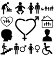 Family sign Flat icons vector image