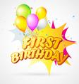 first birthday blast vector image vector image