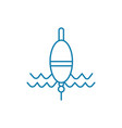 fishing float linear icon concept fishing float vector image vector image
