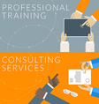 Flat design concept for professional training and vector image