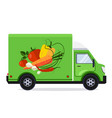 flat style delivery service vector image vector image