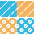 Fountain pen pattern set colored vector image vector image