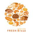 fresh bread vector image