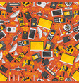 gadgets and devices in seamless pattern internet vector image vector image