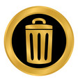 garbage button on white vector image vector image