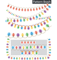 garland colored light vector image