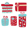gift boxes collection presents isolated on white vector image