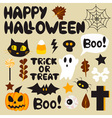 Halloween cartoon set vector image vector image