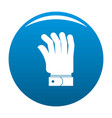 hand icon blue vector image