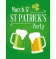 Happy St Patricks day party poster invite vector image vector image