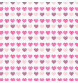 hearts pattern background vector image vector image