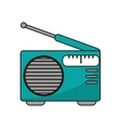Isolated radio device design vector image vector image