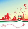 Italian holidays background vector image vector image