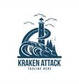 kraken attack vector image vector image